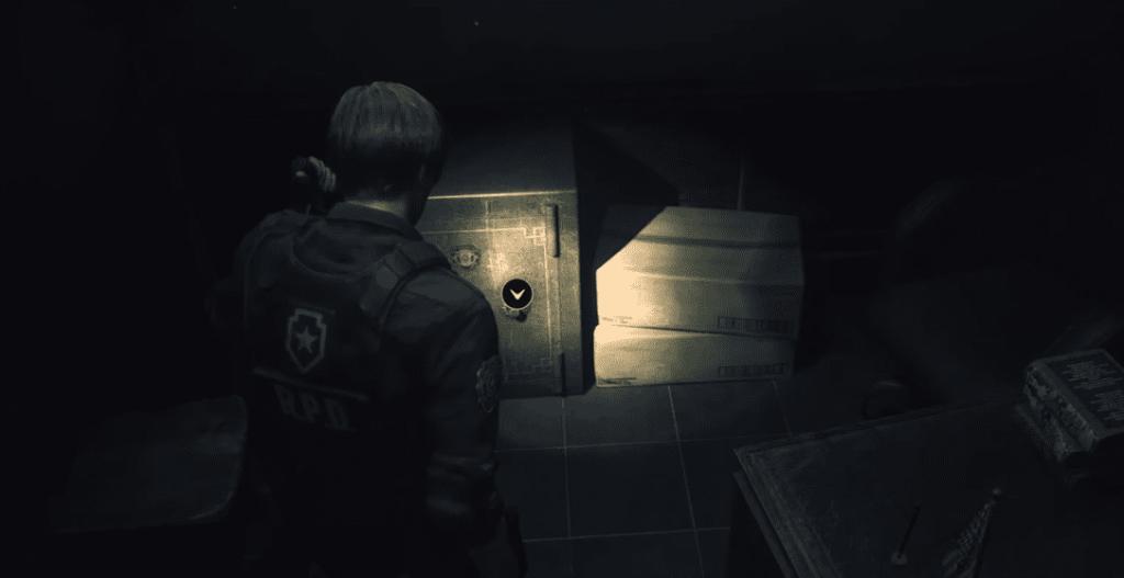 contraseña de caja fuerte resident evil 2 remake